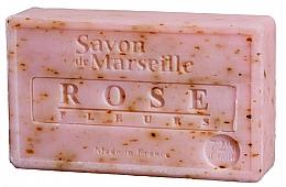 Perfumería y cosmética Jabón sólido natural con pétalos y 72% aceite de rosas - Le Chatelard 1802 Savon de Marseille Rose Fleurs