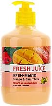 Perfumería y cosmética Jabón cremoso con aceite de camelia con dosificador, mango y carambola - Fresh Juice Mango & Carambol