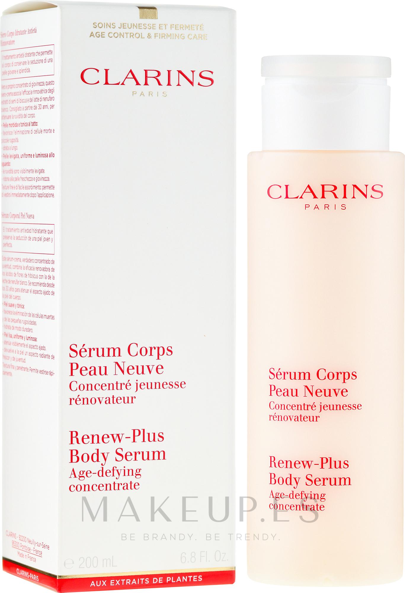 Sérum corporal con extracto de hibisco y nenúfar blanco - Clarins Renew-Plus Body Serum — imagen 200 ml