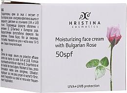 Perfumería y cosmética Crema facial hidratante natural con aceite esencial de rosa de Bulgaria - Hristina Cosmetics Moisturizing Face Cream With Bulgarian Rose SPF50