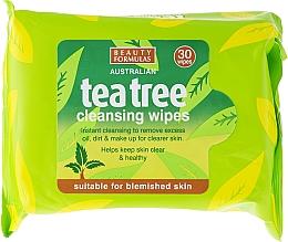 Perfumería y cosmética Toallitas limpiadoras con aceite de árbol de té para piel manchada - Beauty Formulas Tea Tree Cleansing Wipes