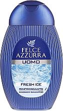 Perfumería y cosmética Gel de ducha y champú refrescante con mentol - Felce Azzurra Fresh Ice
