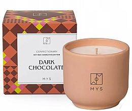 Perfumería y cosmética Vela de soja con aroma a chocolate negro - Mys Dark Chocolate Candle