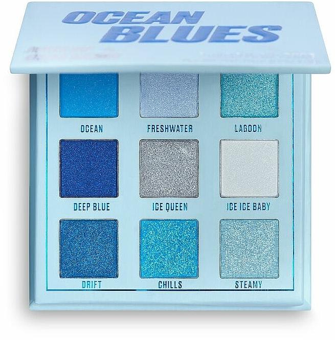 Paleta de sombras de ojos - Makeup Obsession Ocean Blues Eyeshadow Palette