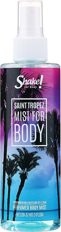 Shake for Body Perfumed Body Mist Saint Tropez Melon & Wild Plum - Bruma corporal con aroma a melón y ciruela
