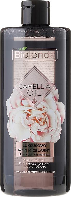 Agua micelar con aceite de camelia y agua de rosas - Bielenda Camellia Oil Luxurious Micellar Liquid