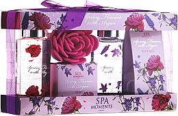 Perfumería y cosmética Set corporal - Spa Moments Spring Flowers With Argan (gel de ducha/100ml + jabón/50g + gel de ducha/100ml + sales de baño/50g)