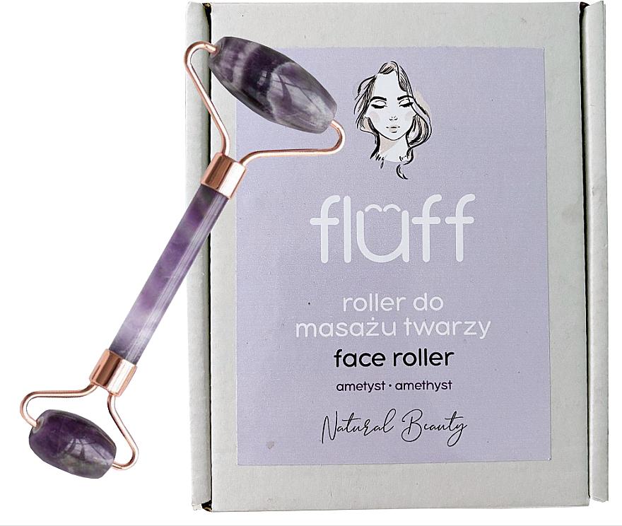 Rodillo de masaje facial de amatista - Fluff Face Roller Ametyst