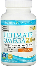 Perfumería y cosmética Complemento alimenticio en cápsulas de Omega 2X más vitamina D3 con sabor a limón, 1120 mg - Nordic Naturals Omega 2X Mini With Vitamin D3