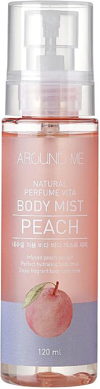 Bruma corporal hidratante con extracto de melocotón - Welcos Around Me Natural Perfume Vita Body Mist Peach