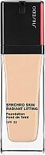 Perfumería y cosmética Base de maquillaje efecto lifting, SPF 30 - Shiseido Synchro Skin Radiant Lifting Foundation SPF 30