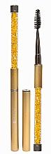 Perfumería y cosmética Cepillo profesional para cejas y pestañas, dorado - Lash Brow Gold