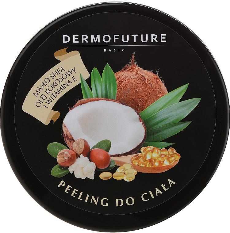 Exfoliante corporal de azúcar con manteca de karité y coco - DermoFuture Sugar Body Scrub
