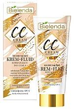 Perfumería y cosmética Crema correctora corporal 10en1 efecto bronceador con extracto de nuez, resistente al agua - Bielenda Magic CC 10in1 Body Correction Cream Waterproof Tanning Effect SPF6