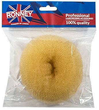 Esponja de moño, 11x4.5 cm, beige - Ronney Professional Hair Bun