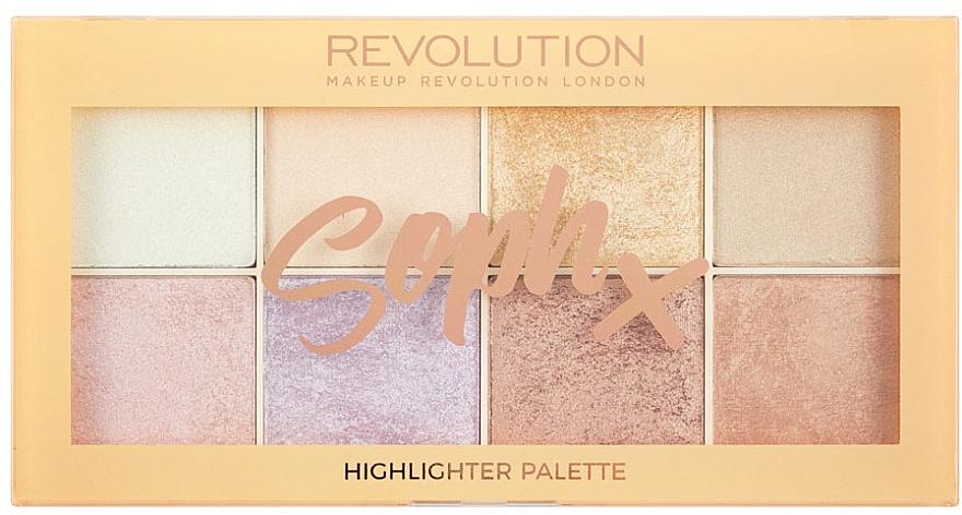Paleta de iluminadores - Makeup Revolution Soph Highlighter Palette