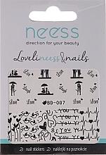 Perfumería y cosmética Pegatinas decorativas para uñas, 3684, BD-007 - Neess