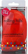 Perfumería y cosmética Cepillo desenredante de pelo compacto, rojo - Rolling Hills Compact Detangling Brush Red