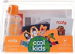 Perfumería y cosmética Set (higienizante de manos/100ml + champú-gel de ducha/3g + mascarilla azul/1ud) - Roofa Cool Kids