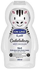 Perfumería y cosmética Gel de ducha infatil para cuerpo, cabello y rostro con aroma a chocolate blanco - On Line Le Petit White Chocolate 3 In 1 Hair Body Face Wash