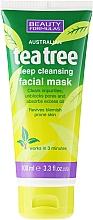 Perfumería y cosmética Máscarilla facial de limpieza profunda con áceite de árbol de té y arcilla blanca - Beauty Formulas Tea Tree Deep Cleansing Facial Mask