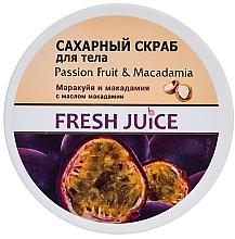 Perfumería y cosmética Exfoliante corporal de azúcar con aceite de macadamia - Fresh Juice Passion Fruit & Macadamia