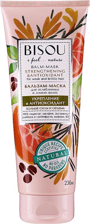 Mascarilla capilar natural fortalecedora con extracto de pomelo - Bisou Balm-Mask Strengthening & Antioxidant