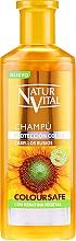 Perfumería y cosmética Champú para cabello teñido rubio - Natur Vital Coloursafe Henna Colour Shampoo Blonde Hair