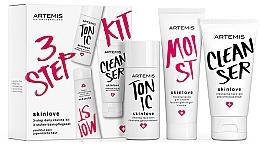 Perfumería y cosmética Set facial (gel/30ml+ tónico/30ml+gel-crema/20ml) - Artemis of Switzerland Skinlove 3 Step Daily Routine Kit