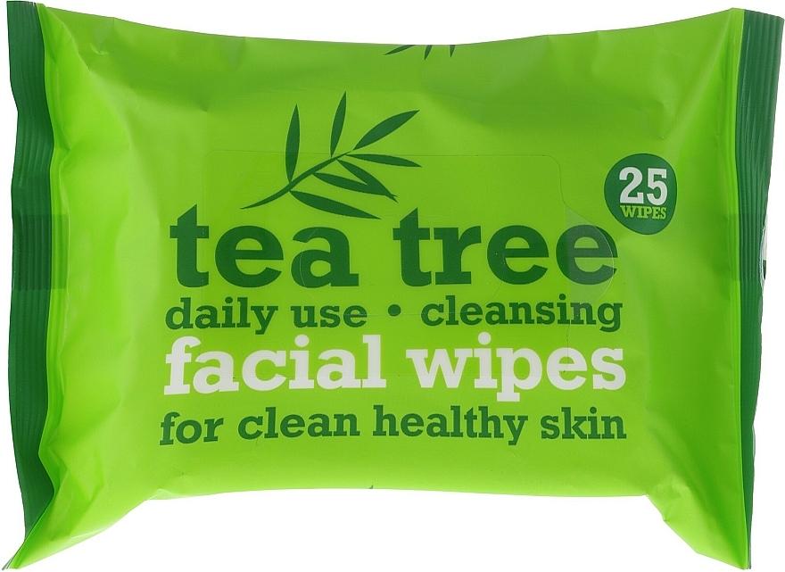 Toallitas húmedas de limpieza facial con extracto de árbol de té, 25uds. - Xpel Marketing Ltd Tea Tree Facial Wipes For Clean Healthy Skin