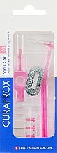 """Perfumería y cosmética Cepillos interdentales con dos soportes rosas """"Prime Start"""", CPS 08S - Curaprox"""