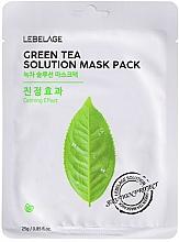 Perfumería y cosmética Mascarilla facial de tejido con té verde - Lebelage Green Tea Solution Mask