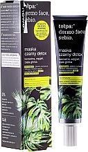 Perfumería y cosmética Mascarilla facial hipoalergénica con carbón y arcilla blanca, sin parabenos - Tolpa Dermo Face Sebio Black Detox Mask