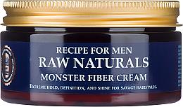 Perfumería y cosmética Crema para cabello con cera carnauba y extracto de lúpulo - Recipe For Men RAW Naturals Monster Fiber Cream