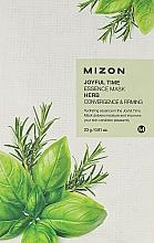 Perfumería y cosmética Mascarilla facial de algodón con extractos botánicos e hierbas - Mizon Joyful Time Essence Mask Herb