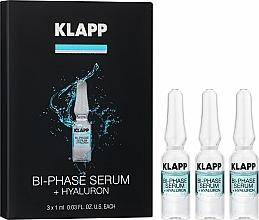Perfumería y cosmética Sérum facial bifásico con ácido hialurónico y aceite de semilla de almendra dulce & soja - Klapp Bi-Phase Serum Hyaluron