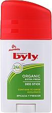 Perfumería y cosmética Desodorante stick con extracto de té verde - Byly Organic Extra Fresh 48h Deodorant Stick