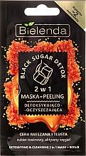 Perfumería y cosmética Mascarilla facial+exfoliante 2en1 - Bielenda Black Sugar Detox (mini)