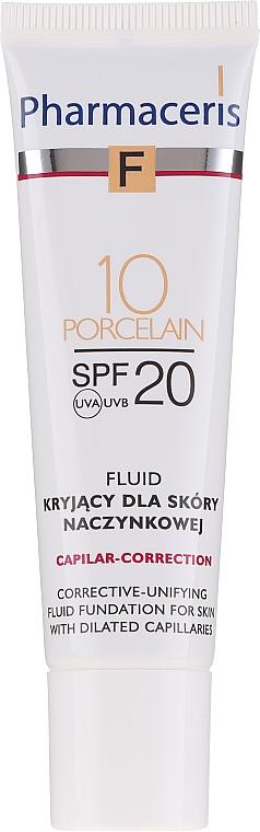 Crema facial correctora unificadora de tono con ácido hialurónico y óxido de zink - Pharmaceris F Capilar-Correction Fluid SPF20