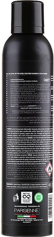 Laca con ácido hialurónico y aceite de baobab, fijación extra fuerte - Niamh Hairconcept Dandy Hair Spray Extra Dry Ultra Fix