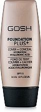 Perfumería y cosmética Base de maquillaje & corrector hidratante de alta cobertura y larga duración, SPF 15 - Gosh Foundation Plus SPF15