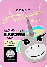 Perfumería y cosmética Mascarilla facial con vitamina E - Conny Animal Mask Jednorozec