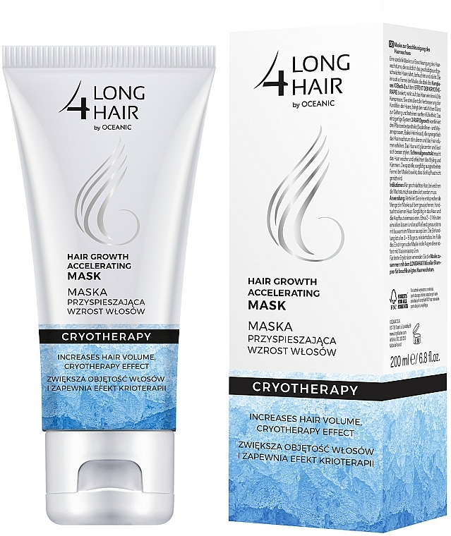 Mascarilla capilar para crecimiento del cabello con extracto de algas - Long4Lashes Hair Ice Mask
