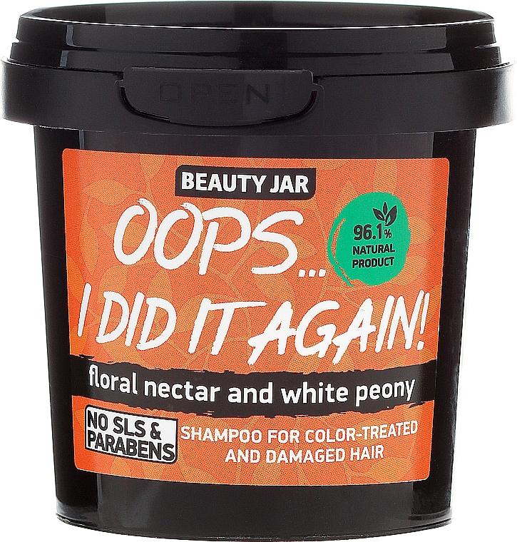 Champú natural con néctar floral y extracto de peonía blanca - Beauty Jar Shampoo For Colour-Treated And Damaged Hair