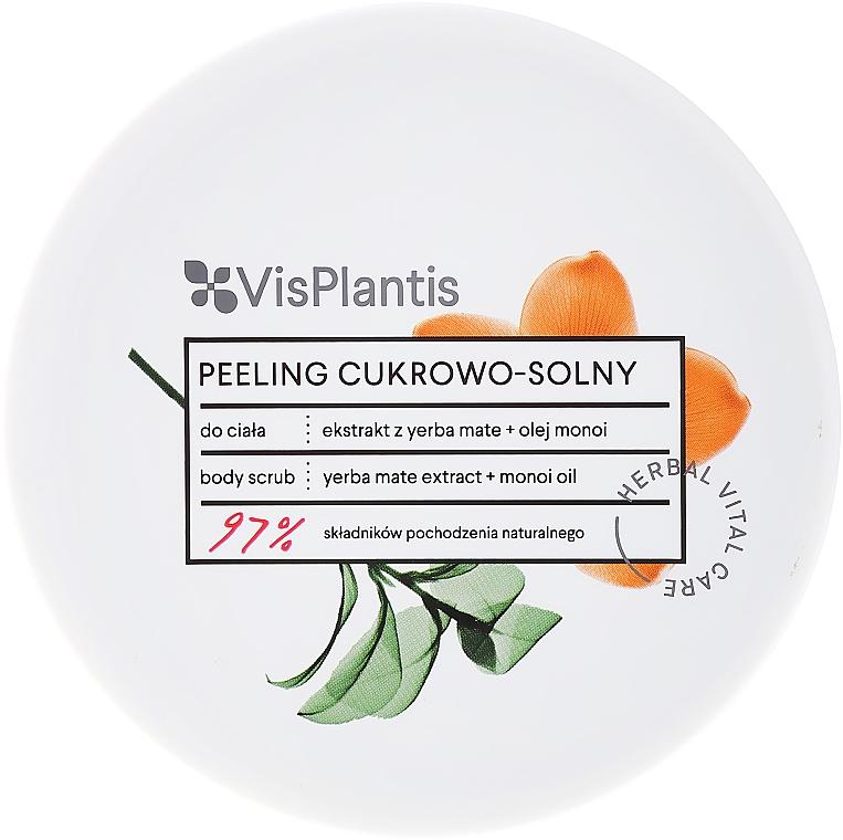 Exfoliante corporal con extracto de yerba mate & aceite de monoi - Vis Plantis Sugar & Salt Body Scrub — imagen N1