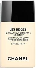 Perfumería y cosmética Crema de color hidratante con ácido hilaurónico, SPF 30/PA++ - Chanel Les Beiges Sheer Healthy Glow SPF 30/PA++