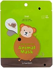 Perfumería y cosmética Mascarilla facial de tejido con baba de caracol - Berrisom Animal Mask Snail Series Monkey