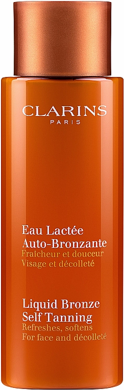 Loción autobronceadora para cuello y escote con aloe vera - Clarins Liquid Bronze Self Tanning