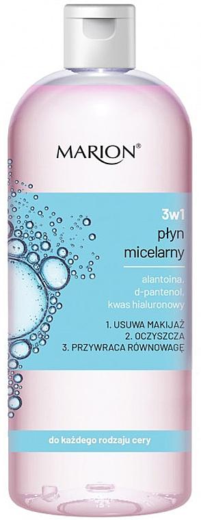 Agua micelar con alantoína, D-pantenol y ácido hialurónico - Marion