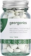Perfumería y cosmética Pasta dental en tabletas vegana con aceite orgánico de árbol de té, 120uds. - Georganics Natural Toothtablets Tea Tree